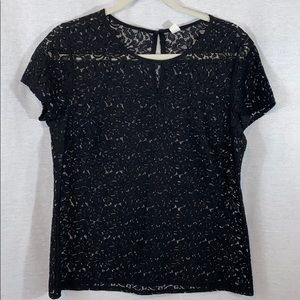NWOT Old Navy Lace short sleeve blouse